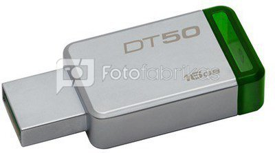 Kingston DataTraveler 50 16 GB, USB 3.0, Green, Silver