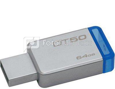 Kingston DataTraveler 50 64GB USB 3.0 Metal/Blue Kingston