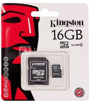Kingston microSDHC 16GB class4 + adapter