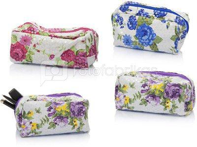 Kosmetinė su gėlių piešiniu 14x2x20 cm 871271599127 (3 spalvų) ddm