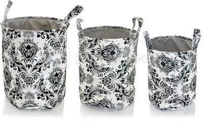 Krepšiai iš tekstilės 3 vnt. 35X40 cm, 30X35 cm, 25X30 cm SAVEX