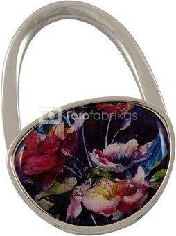 Laikiklis rankinei 6,5 x 4,5 cm HT29 Gėlės