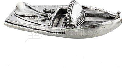 Laivelio modelis sendinto sidabro spalvos H:8 W:29 D:11 cm HM1140