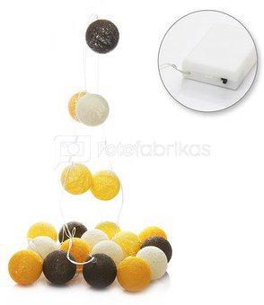LED medvilniniai kamuoliai ( Cotton ball ) 20 vnt. baterijos AAA SAVEX