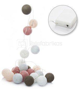 LED medvilniniai kamuoliai ( Cotton ball) 20 vnt. baterijos AAA SAVEX
