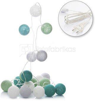 LED medvilniniai kamuoliai ( Cotton ball) 20 vnt. elektra SAVEX