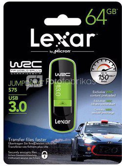 LEXAR JUMPDRIVE S75 - 64GB- USB 3.0 - WRC