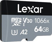 LEXAR PRO 1066X MICROSDHC/MICROSDXC UHS-I (SILVER) R160/W70 64GB