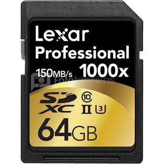 Lexar SDXC Card 64GB 1000x Professional UHS-II