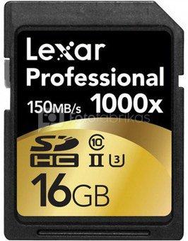Lexar SDHC Card 16GB 1000x Professional UHS-II