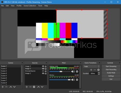 Live streaming programa OBS studio
