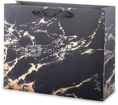 Maišelis dovanoms su juodo marmuro piešiniu 26x32x11 cm 135330