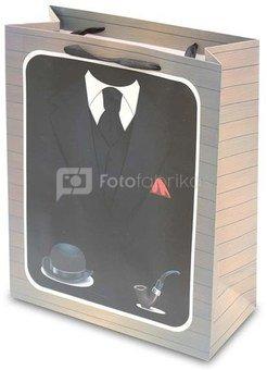 Maišelis dovanoms su kostiumo piešiniu 32x26x12 cm 104332