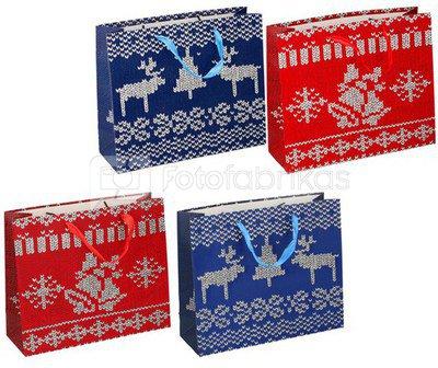 Maišelis dovanų Kalėdinis 32x27x11cm 871125204882 kld