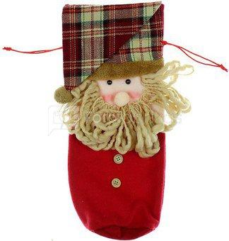 Maišelis tekstilinis Kalėdų Senelis H:38 W:16 D:3 cm raudonas XM2457 kld