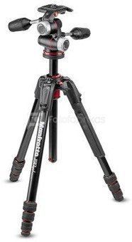 Manfrotto 190go! MS Aluminum Tripod XPRO 3-way head MK190GOA4-3WX