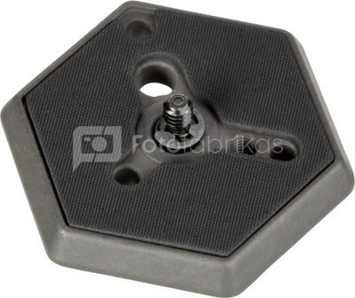 Manfrotto Hexagonal Adapter Plate normal 1/4 screw 030-14