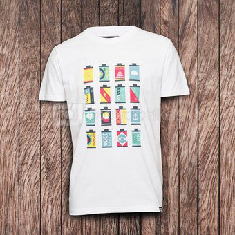 Marškinėliai CANISTERS - White S