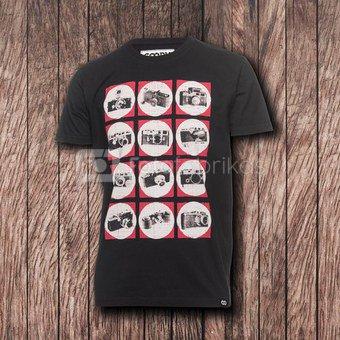 Marškinėliai Cooph Camchart XL (juoda)