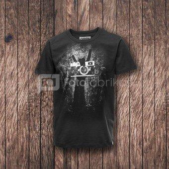 Marškinėliai Cooph Rock on L (juoda)