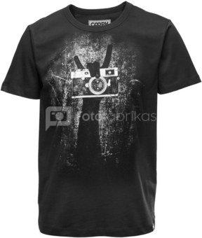 Marškinėliai Cooph Rock on XXL (juoda)