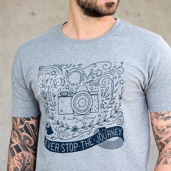 Marškinėliai Cooph The Journey L (pilka)