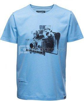 Marškinėliai FIDELAROID - Ethereal blue L