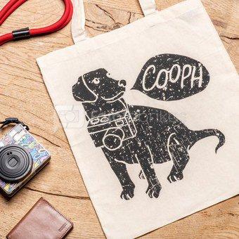 Medžiaginis maišelis Cooph Camdog (smėlio spalvos)