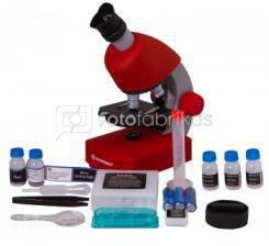Mikroskopas Bresser Junior 40-640x - raudonas