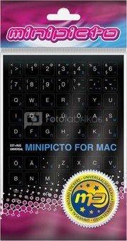 Minipicto keyboard sticker EST/RUS KB-MAC-EE-RU-BLK, black