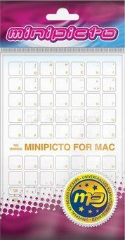 Minipicto keyboard sticker RUS KB-MAC-CLRRU-ORANGE, matte orange