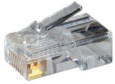 Modular Plug CAT5 8P8C Unshielded 100 pcs, polybag