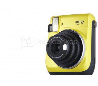 Fujifilm Instax Mini 70 (Geltonas) + 10 Fotoplokštelių