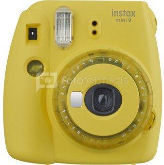 Fujifilm Instax Mini 9 (Geltonas) + 10 Fotoplokštelių