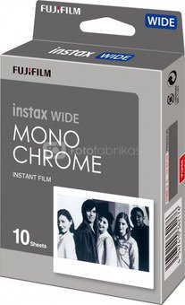 Fujifilm Fotoplokštelės Instax WIDE Monochrome 10vnt.