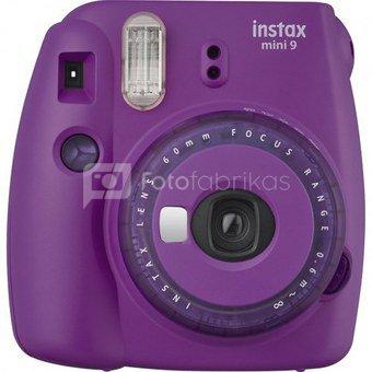 Momentinis fotoaparatas FUJIFILM Instax mini 9 (Violetinis) + 10 vnt. Fotoplokštelių