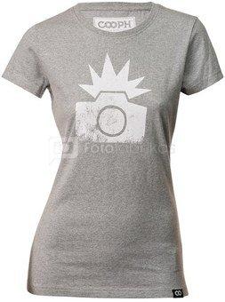 Mot. marškinėliai Cooph Flash S (šviesiai pilka)