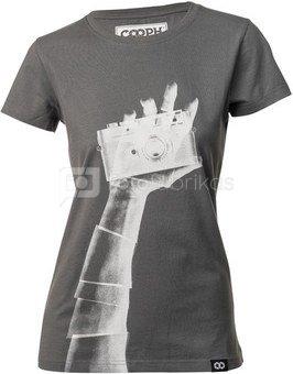 Mot. marškinėliai Cooph Snapographer M (tamsiai pilka)