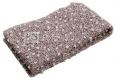 Newborn Beige Lace Knit Wrap BLKW 40 x 75 cm