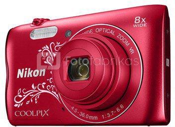 Nikon Coolpix A300 (raudonas ornament)