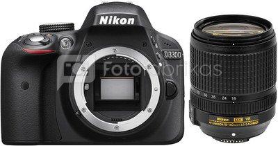 Nikon D3300 + 18-140mm VR