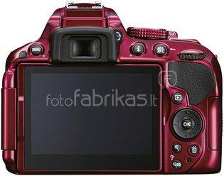Nikon D5300 body (raudonas)