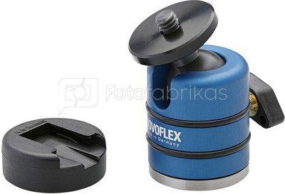 Novoflex Kugelneiger mit Aufla- geteller und Blitzschuhadapter