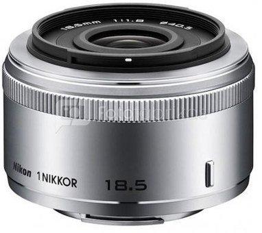 Objektyvas 1 NIKKOR 18.5mm f/1.8 (Sidabrinis)