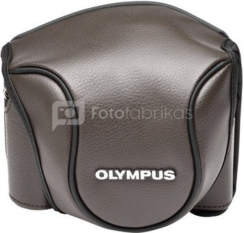 Olympus CSCH-118 Leather Bag brown for Stylus 1