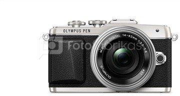 "Olympus PEN E-PL7 + M.ZUIKO ED 14‑42mm 16.1 MP, MILC, Live MOS, Image stabilizer, Image sensor size (W x H) 17.3 x 13 "", TTL, ISO sensitivity (max) 25600, 1920 x 1080 pixels, 640 x 480,1280 x 720,1920 x 1080 pixels, LCD, 7.62 "", Wi-Fi, TruePic VII, Silver"