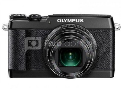"""Olympus SH-2 Black - 16.0 MP backlit CMOS, 24x super wide Zoom, 3.0"""" 460K dots touch LCD, iHS, 5-axis Photo IS/Hybrid 5-axis Movie IS, full HD 60p Movie, Smart Panorama, Live Guide, Photo Story, built-in Wi-Fi + OI.Share, RAW support, Nightscape Mode"""