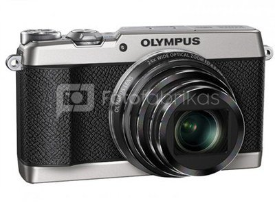 """Olympus SH-2 Silver - 16.0 MP backlit CMOS, 24x super wide Zoom, 3.0"""" 460K dots touch LCD, iHS, 5-axis Photo IS/Hybrid 5-axis Movie IS, full HD 60p Movie, Smart Panorama, Live Guide, Photo Story, built-in Wi-Fi + OI.Share, RAW support, Nightscape Mode"""
