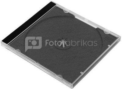Omega CD case Jewel, black (40155)