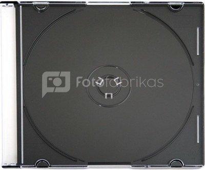 Omega CD case Slim, black (56622)